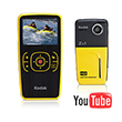 Kodak Digitalt HD videokamera Pocket Zx1 GUL/SORT
