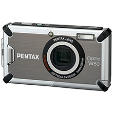 Pentax Digitalt kompaktkamera Optio W80 Silver/Grey(Norsk utgave)